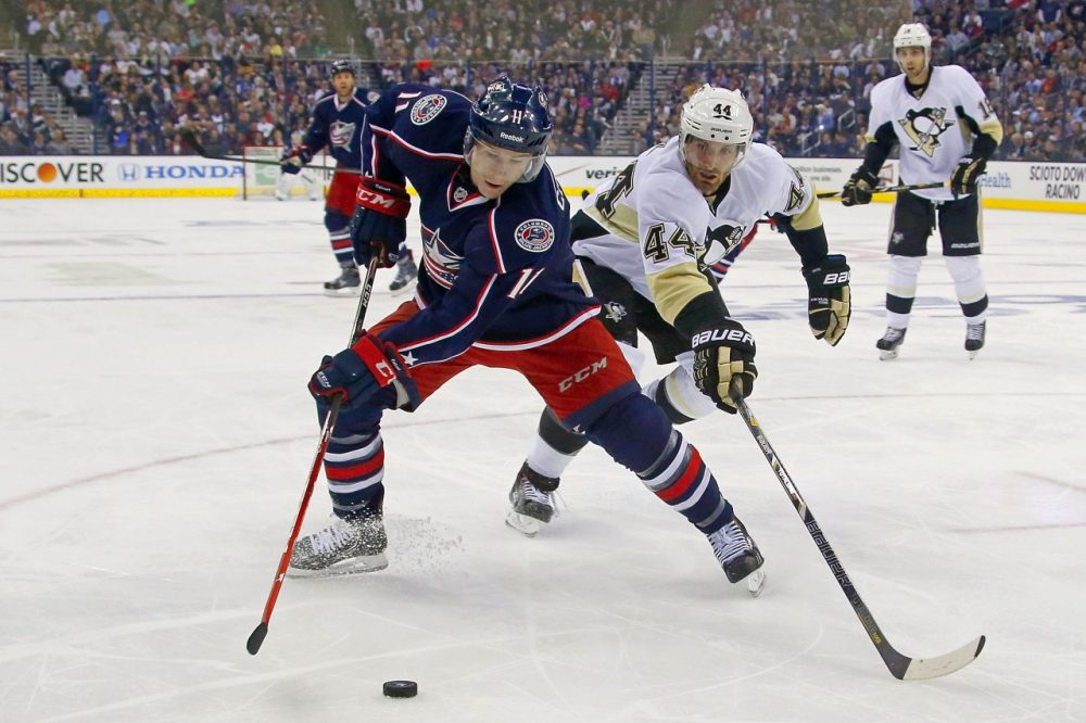 Matt Calvert and the rest of the Columbus Blue Jackets have figured out how to pester the Penguins. ( Kirk Irwin/Getty Images)
