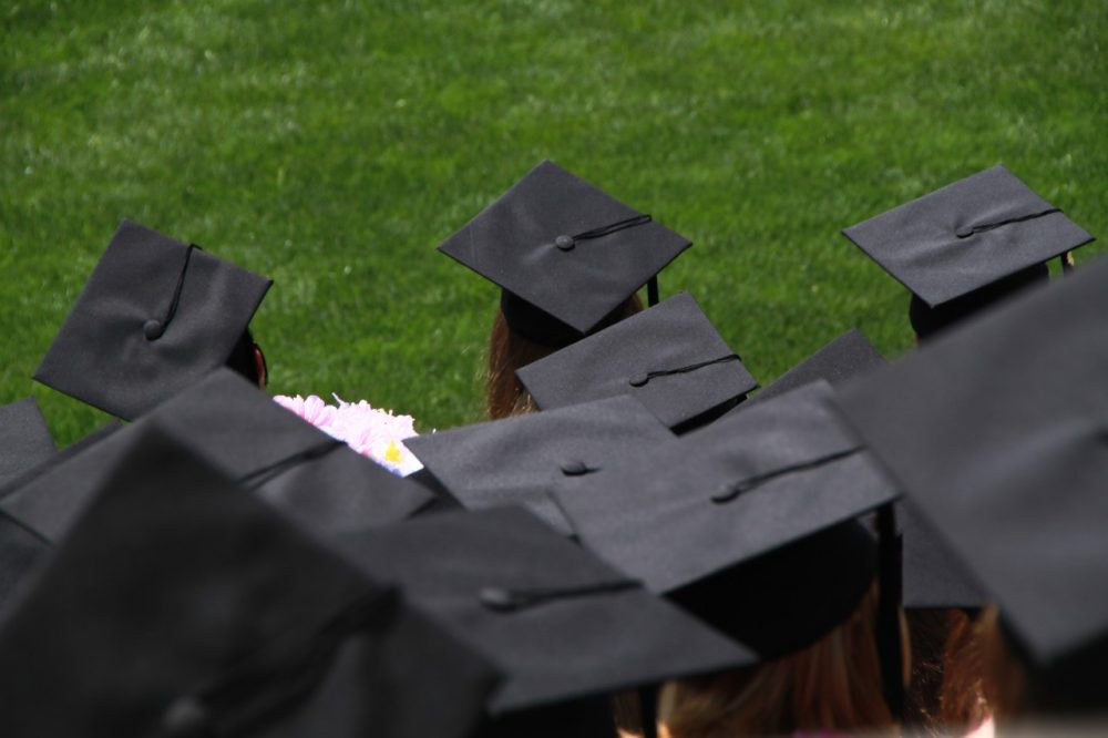 """""""Do not get the idea you're anything special. Because you're not,"""" English teacher David McCullough, Jr. told students at a Wellesley High School graduation ceremony. (Jason Bache/Flickr)"""