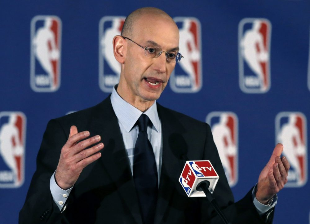 In a press conference Tuesday, NBA Commissioner Adam Silver announced the punishments for Los Angeles Clippers owner Donald Sterling. (Kathy Willens/AP)
