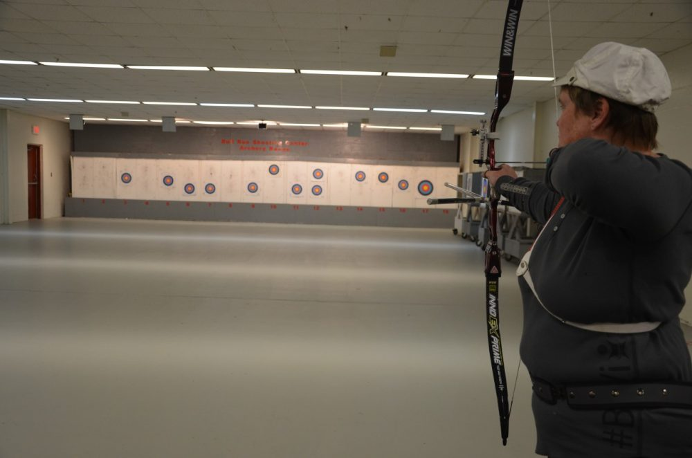 Anne Abernathy practices at the Bull Run Public Shooting Center in preperation for the 2016 Olympics in Rio. (Lauren Ober/Only A Game)