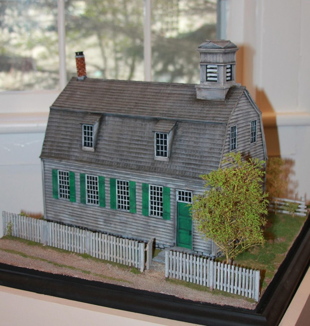 """In 2010 the Cornwall Historical Society mounted an exhibition on the Foreign Mission School. It included this scale model of its """"Academy building."""" (Courtesy of the Cornwall Historical Society)"""