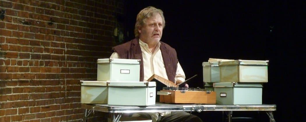 """Steven Barkhimer in """"Krapp's Last Tape."""" (Marc S. Miller)"""
