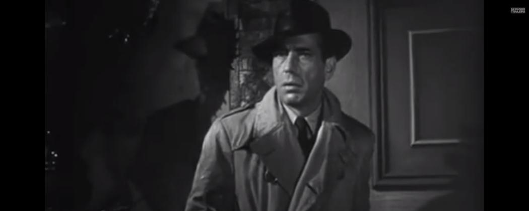 """Humphrey Bogart in """"The Big Sleep."""" (Warner Brothers/YouTube)"""