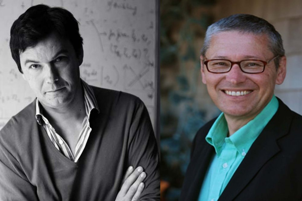 Economists Thomas Piketty and N. Gregory Mankiw (AP / Harvard University)