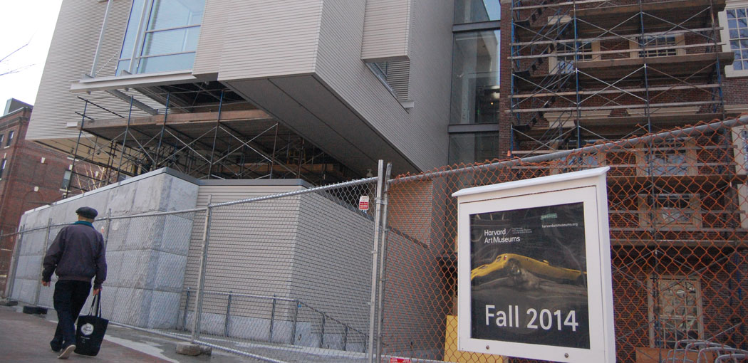The renovated and expanded Harvard Art Museums are scheduled to reopen this November. (Greg Cook)