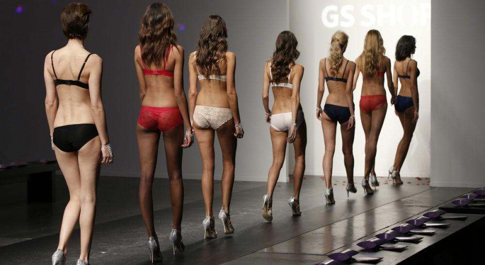 Blame the salesman, sure. But those who knowingly buy snake oil aren't without fault. In this photo, models return backstage following a run-through of the GS Shop Lingerie show during Fashion Week Tuesday, Feb. 4, 2014, in New York. (Kathy Willens/AP)
