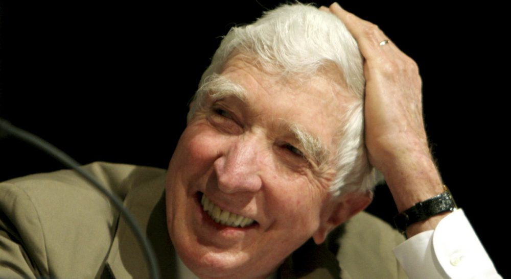 Author John Updike speaks at the Washington Convention Center, Saturday, May 20, 2006. (Caleb Jones/AP)