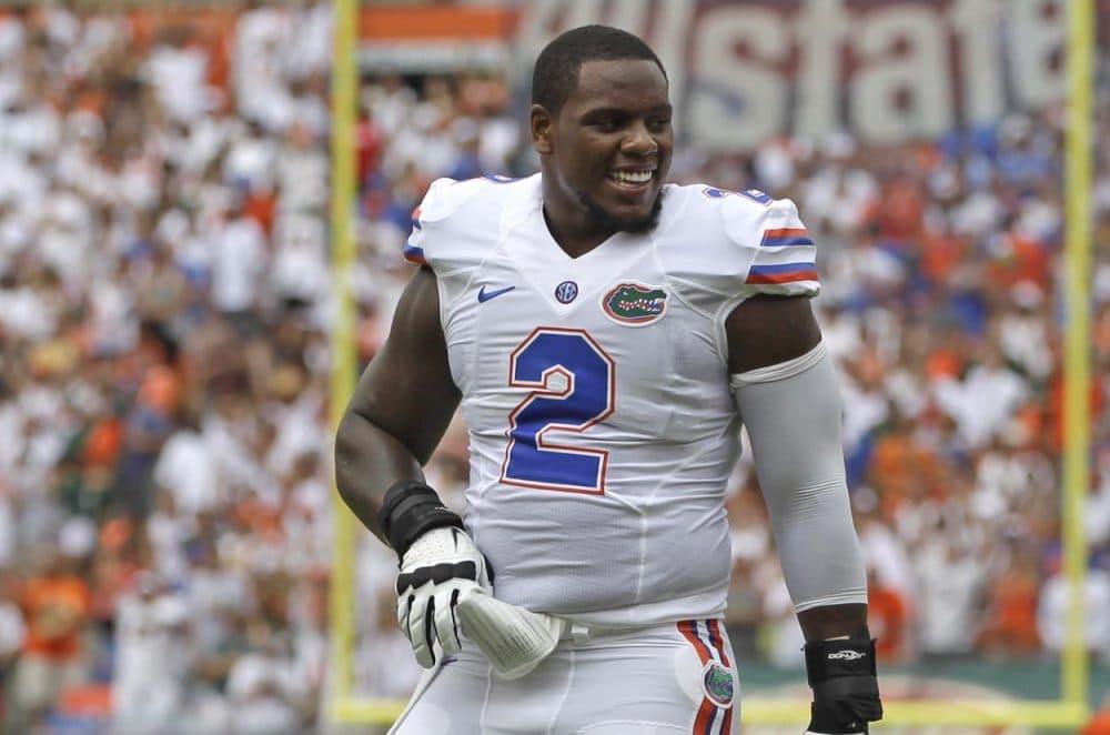 Florida defensive lineman Dominique Easley during a NCAA football game against Miami in 2013. (Alan Diaz/AP)