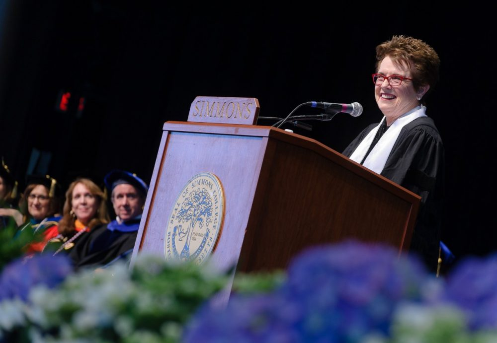 King has been a women's rights activist for decades and delivered the commencement address at Simmons College this year. (John Gillooly/PEI Photography)