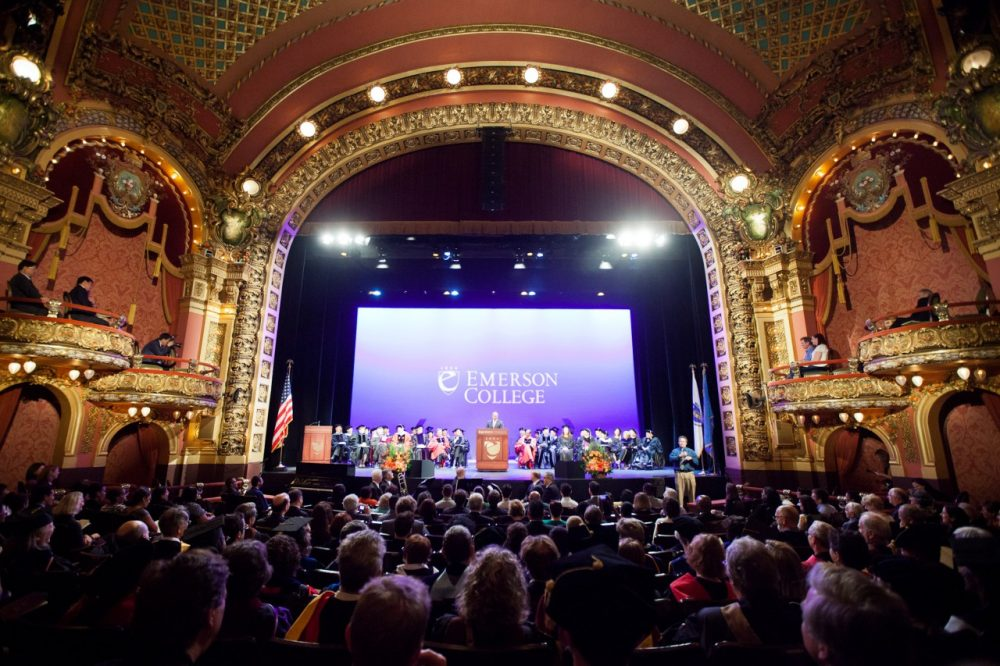 Gov. Patrick offers remarks at the installation ceremony for Dr. Lee Pelton as the 12th President of Emerson College at the Cutler Majestic Theater in downtown Boston. (Eric Haynes/Flickr)