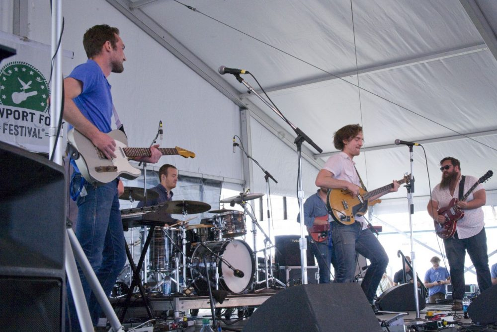The Apache Relay performs at Newport Folk Festival. (WFUV/Flickr)