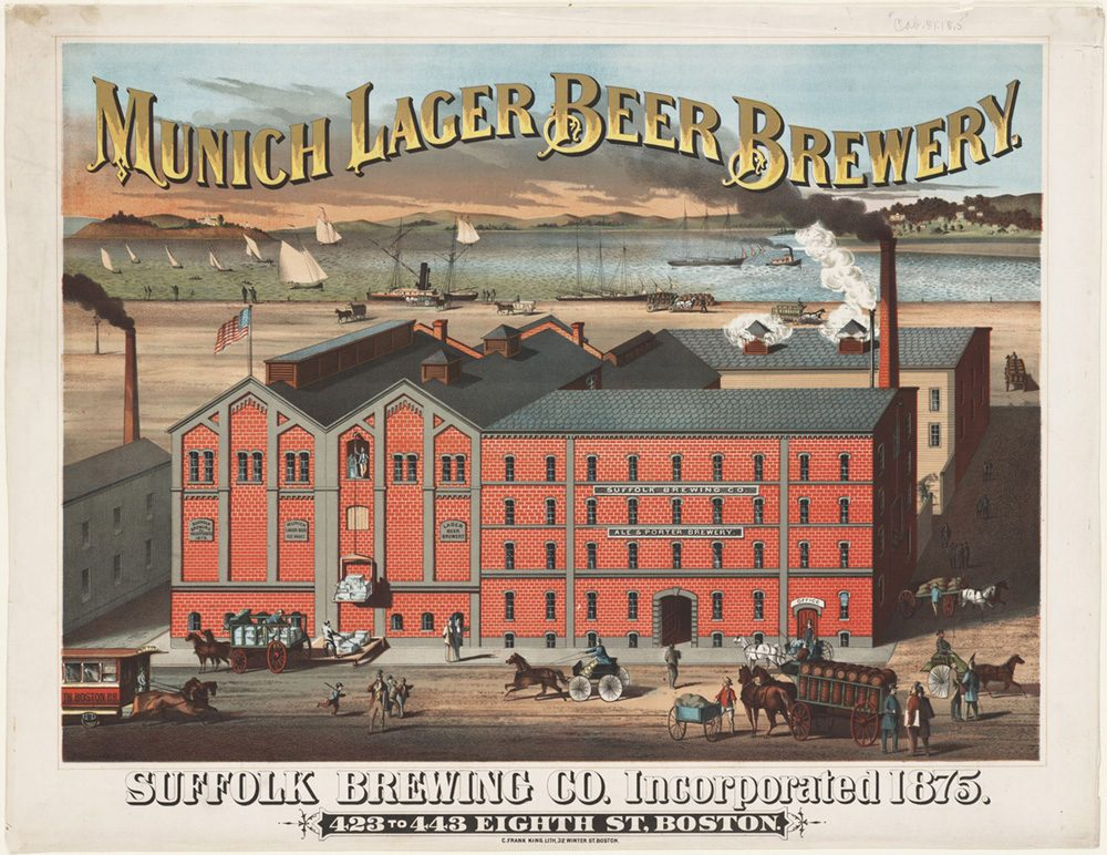 The Suffolk Brewing Co., also known as the Munich Lager Brewery (Boston Public Library via Norman Miller)