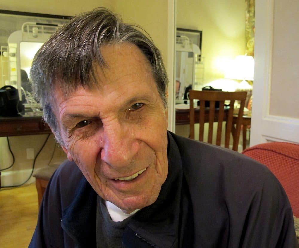 Leonard Nimoy, 83, in his Boston Symphony Orchestra dressing room Friday (Andrea Shea/WBUR)
