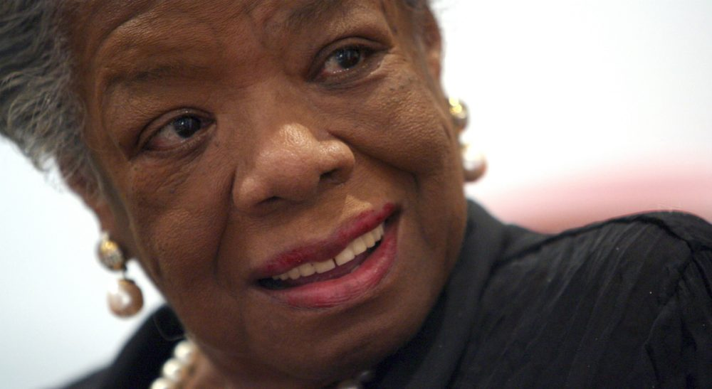 In this March 4, 2008 file photo, American poet and novelist Maya Angelou smiles during an interview with The Associated Press in New York. (Mary Altaffer/AP)