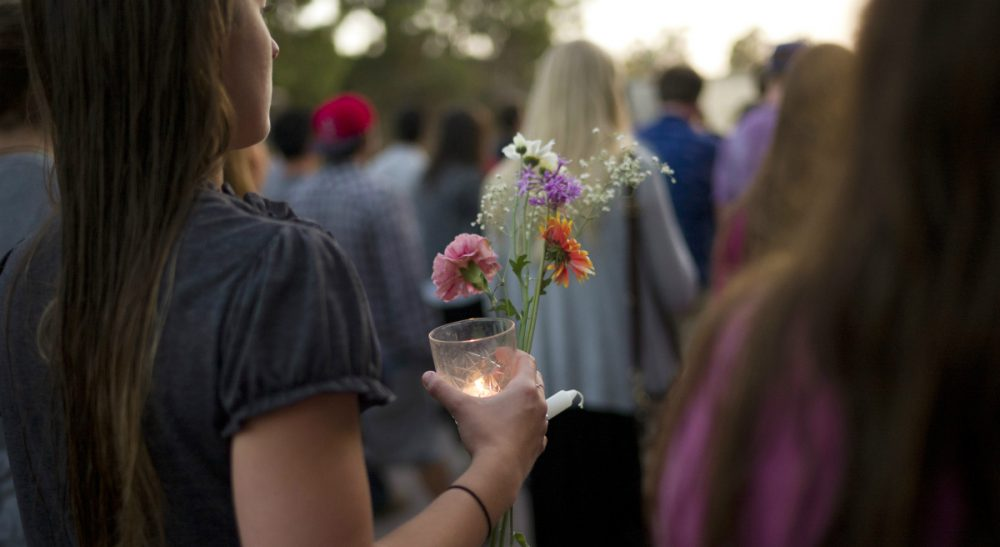 The rationale behind Elliot Rodger's alleged killing spree amplify the toxic ideals of masculinity that pervade our society. In this photo, people march on the campus of the University of California, Santa Barbara during a candlelight vigil held to honor the victims of Friday night's mass shooting on Saturday, May 24, 2014. Sheriff's officials say Elliot Rodger, 22, went on a rampage near UC Santa Barbara, stabbing three people to death at his apartment before shooting and killing three more in a crime spree through a nearby neighborhood. (Jae C. Hong/AP)