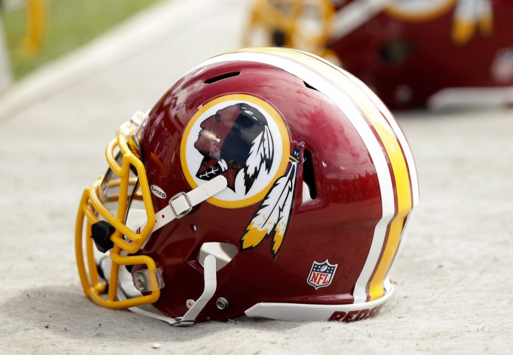 A Washington Redskins helmet is pictured during their game against the Oakland Raiders on September 29, 2013, in Oakland, California. (Ezra Shaw/Getty Images)