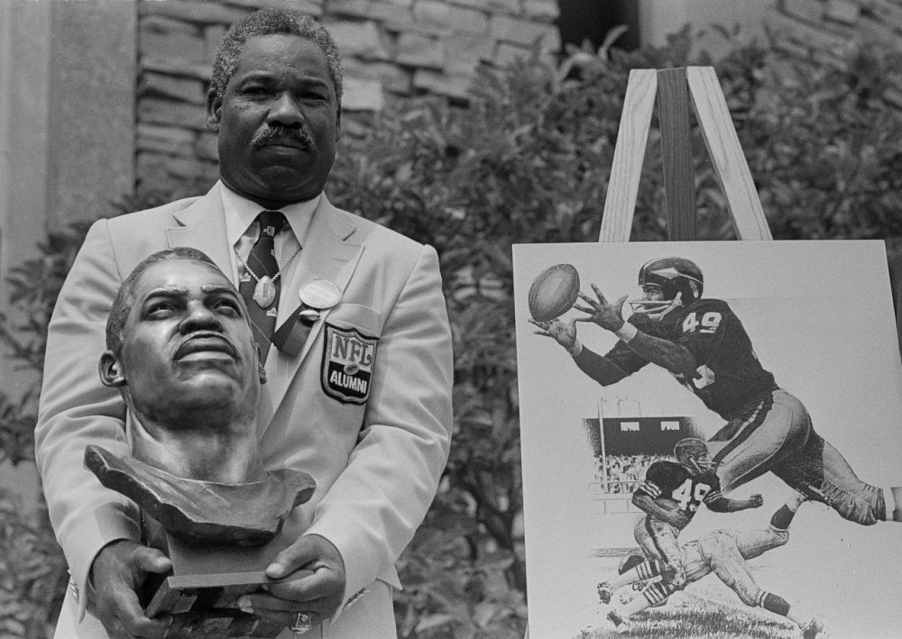 After breaking in with Cleveland, Bobby Mitchell became the Washington Redskins' first black player in 1962. The halfback and wide receiver was inducted into the Pro Football Hall of Fame in 1983. (Gus Chan/AP)