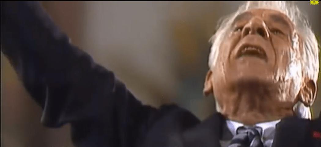 Leonard Bernstein conducting Haydn. (Courtesy, Deutsche Grammophon)