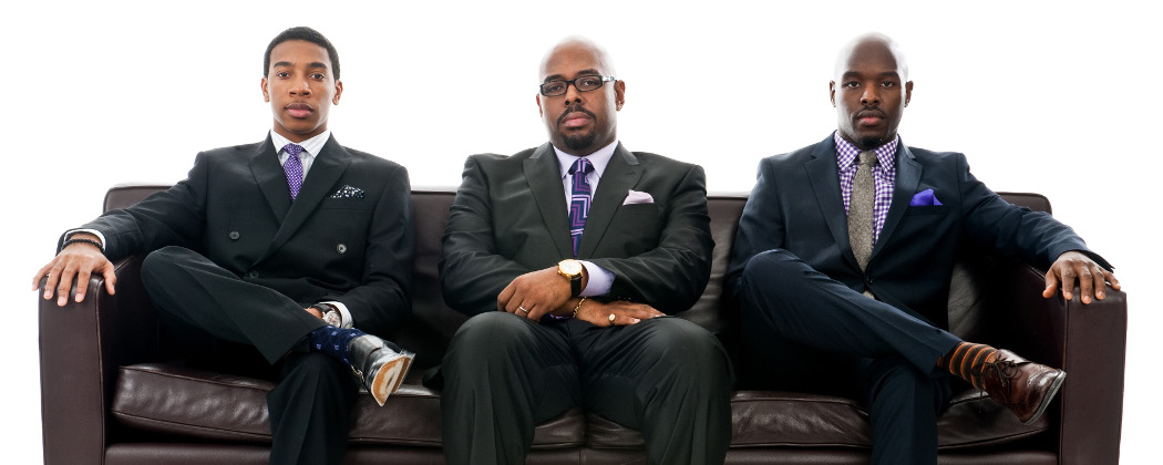"""The Christian McBride Trio  -- Christian Sands, McBride, Ulysses Owens Jr. -- debuted with the release of """"Out Here"""" in 2013. (Chi Modu/Mack Avenue Media)"""