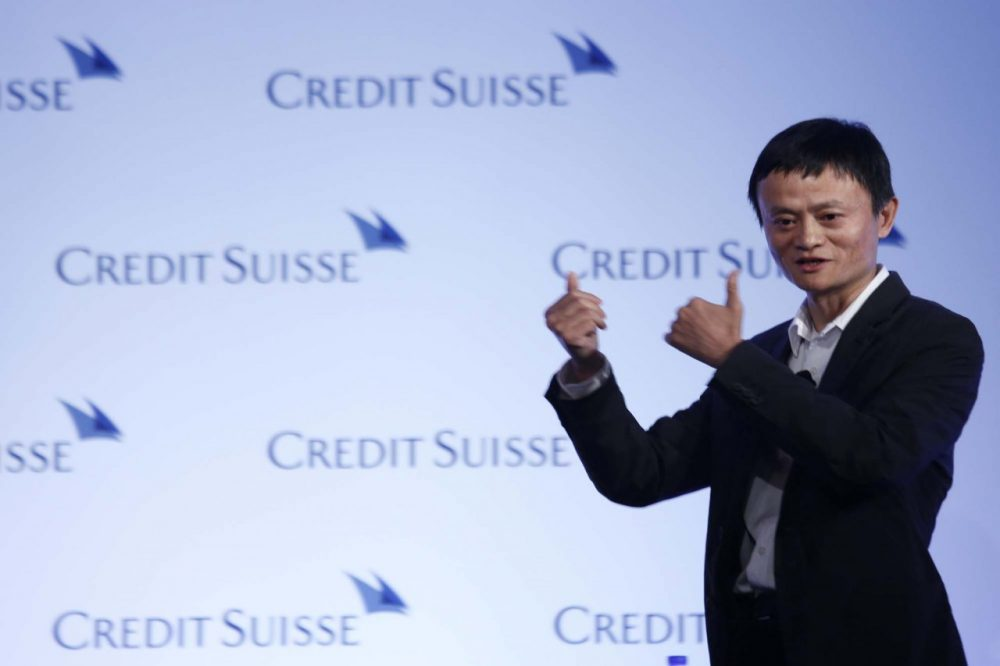 Jack Ma, chairman of China's largest e-commerce firm Alibaba Group, gestures during a conference in Hong Kong Wednesday, March 20, 2012. Ma's company filed for a hotly anticipated US IPO on Tuesday, May 6, 2014.