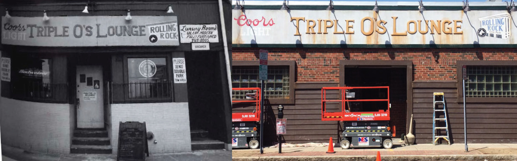 "Comparison of the original James ""Whitey"" Bulger hangout and the set from the upcoming Johnny Depp film, ""Black Mass."""