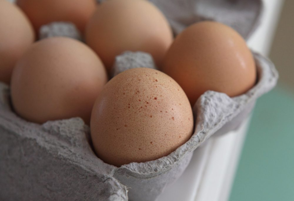 Fresh brown eggs sit in a carton August 26, 2010, in San Rafael, California. (Photo Illustration by Justin Sullivan/Getty Images)