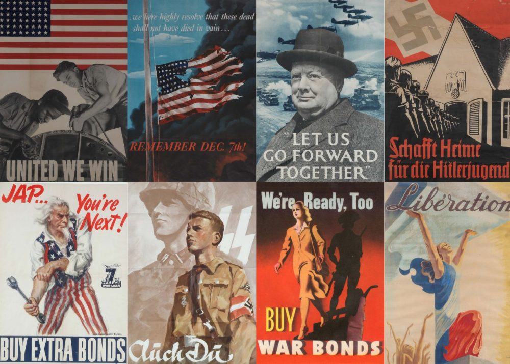 A collection of WWII propaganda posters. (Courtesy)