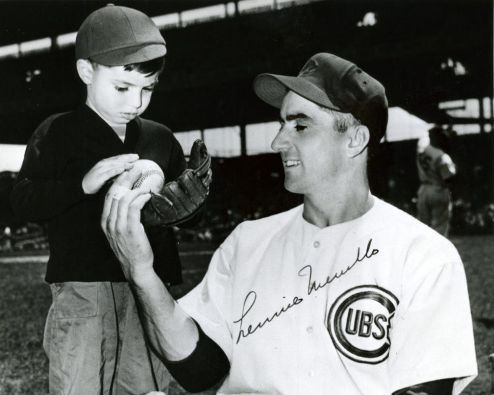 """Lennie Merullo is pictured with his son Len """"Boots"""" Merullo in the 1940s. (Courtesy of Lennie Merullo)"""