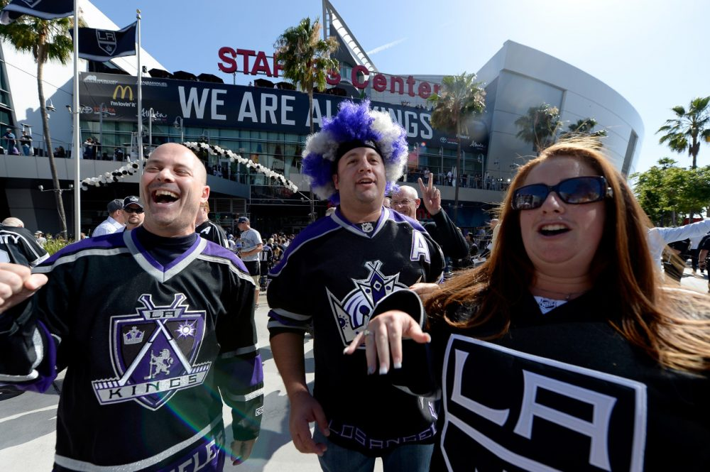 The L.A. Kings didn't just win Game 1 of the Stanley Cup Finals. Their fans bought a record number of tickets and merchandise. (Kevork Djansezian/Getty Images)