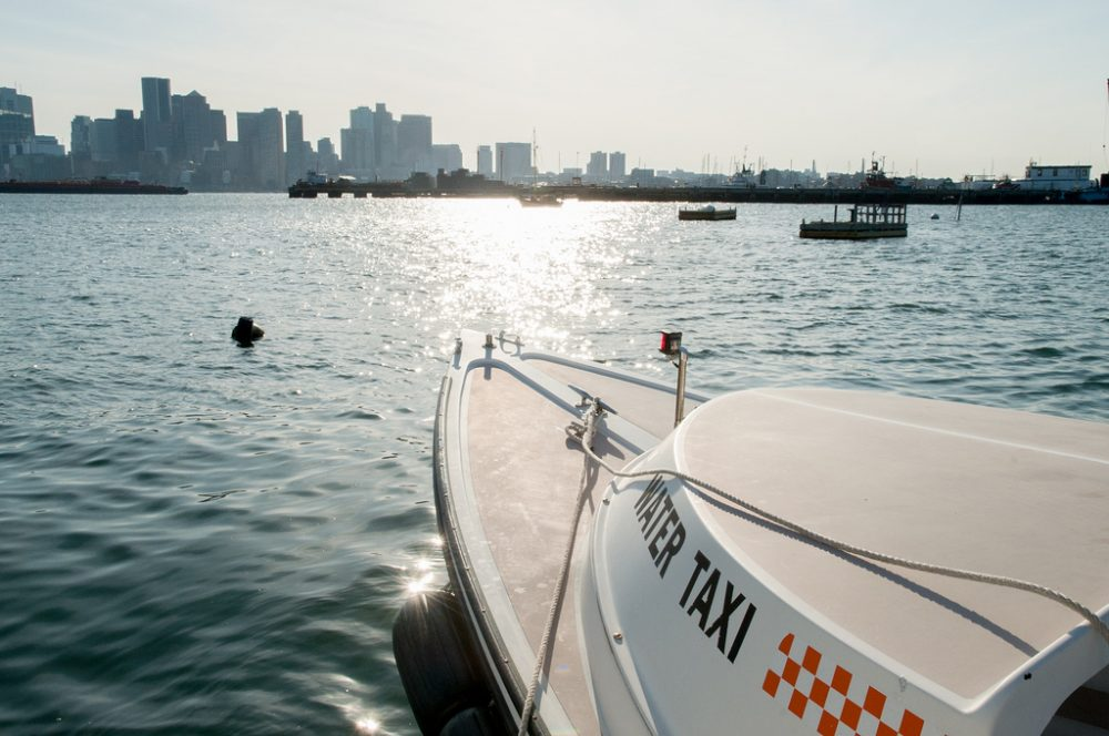 The on demand car service app Uber is testing the out water taxi service in Boston Harbor. (Mass. Office of Travel & Tourism via Flickr)