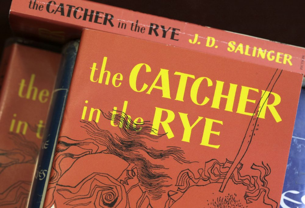 "Copies of J.D. Salinger's classic novel ""The Catcher in the Rye."" (Amy Sancetta/AP)"