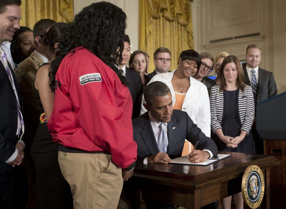 President Obama signed an executive order Monday that aims to reduce the burden of student loan debt. (Pablo Martinez Monsivais/AP)