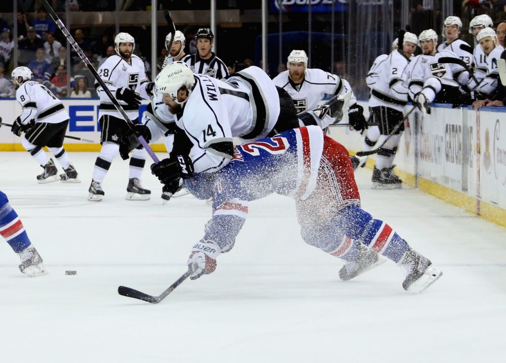 The Rangers avoided elimination in a hard-fought win over the Los Angeles Kings in Game 4 at Madison Square Garden in New York. (Bruce Bennett/Getty Images)