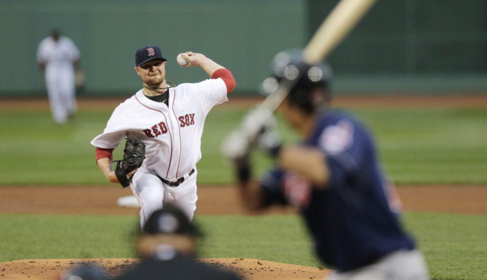 Boston Red Sox starting pitcher Jon Lester (31) delivers. (AP/Charles Krupa)