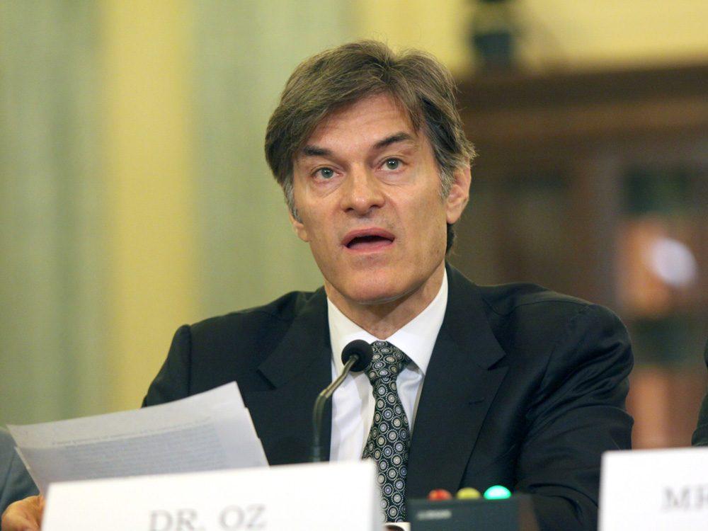 Dr. Mehmet Oz testifies Tuesday before a U.S. Senate subcommittee. (Lauren Victoria Burke/AP)