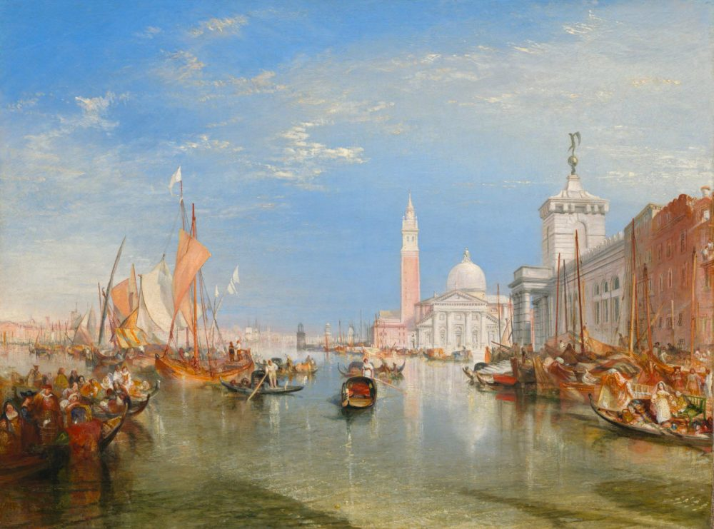 "A Venetian cityscape by J.M.W. Turner, ""Venice: The Dogana and San Giorgio Maggiore."" (Courtesy Peabody Essex Museum)"
