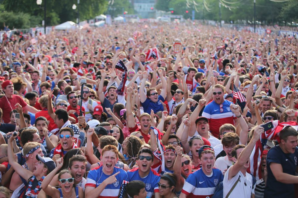 Fans turned out in force at Chicago's Grant Park to watch the U.S. battle Portugal. (Scott Olson/Getty Images)