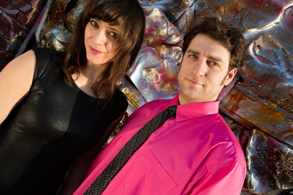 "Sasha Alcott and Chris Viner of the New Hampshire rock duo ""When Particles Collide."" (Photo courtesy of Covington Portraits)"