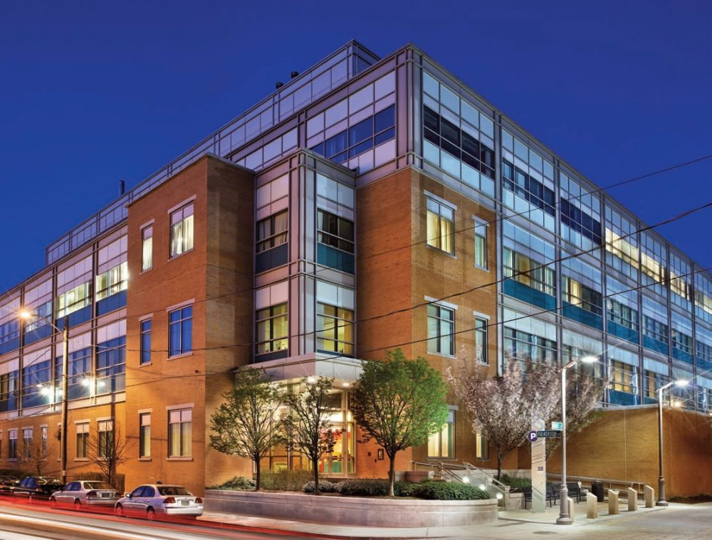 Idenix works out of the 4th floor of a Kendall Square building, where Merck has offices, too. (Photo BioMed Realty)