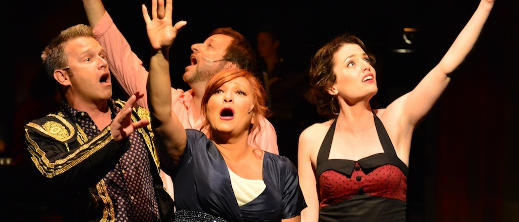 "The cast of ""Jacques Brel Is Alive And Well And Living in Paris"" at the Gloucester Stage Company. (Gary Ng)"