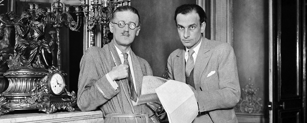 James Joyce and French poet Philippe Soupault  in 1931. (AP)