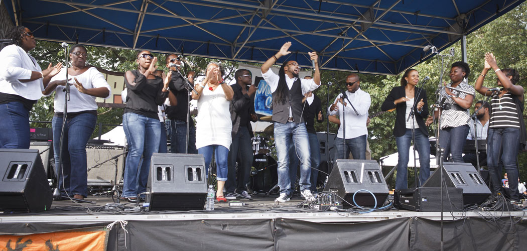 Bethel A.M.E. Praise & Worship Team at the Jamaica Plain Music Festival. (Tony Sahadeo)