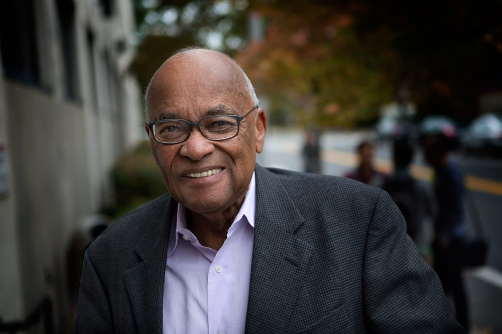 "At 80, Hubie Jones continues to influence social change and social justice in Boston, helping it to live up to its ideal of being ""a city up on a hill."" (Jesse Costa/WBUR)"