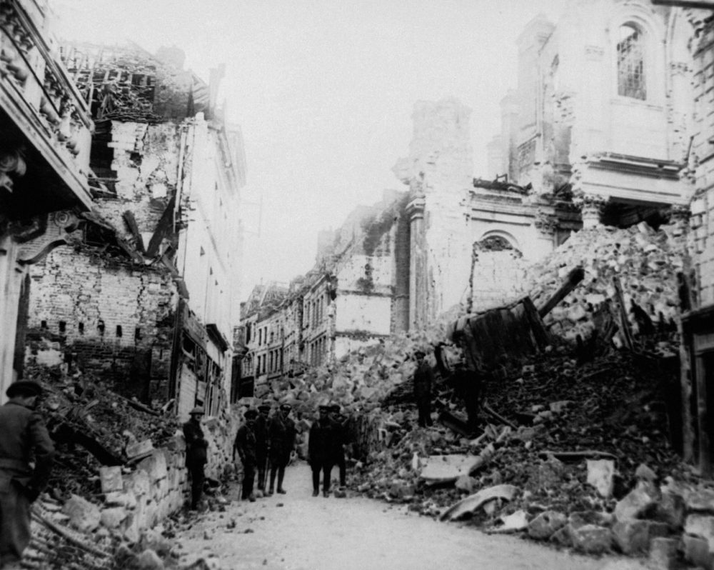 Arras, France, shown here in 1916, was left in ruins by World War I. It is one of the stops on the 2014 Tour de France, which will pay homage to all soldiers who died in the war. (AP)