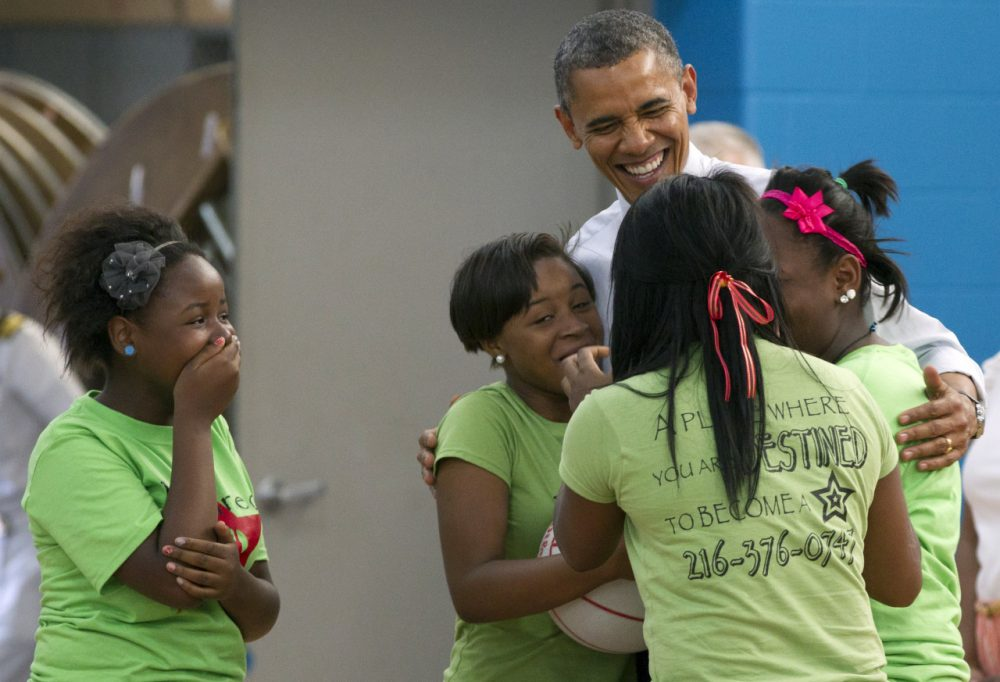 President Barack Obama visits a Cleveland Boys and Girls Club in 2012. (Carolyn Kaster/AP)
