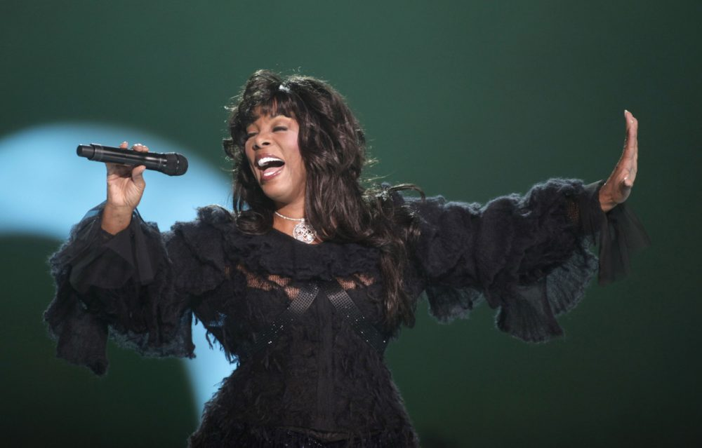 Donna Summer performing at the Nobel Peace concert in Oslo, Norway. (John McConnico/AP)