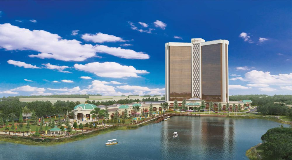 A rendering of the proposed casino.
