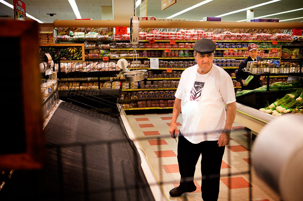 As of Monday, 37 state lawmakers and mayors had agreed to encourage constituents to stop shopping at Market Basket until Arthur T. is reinstated. (Jesse Costa/WBUR)