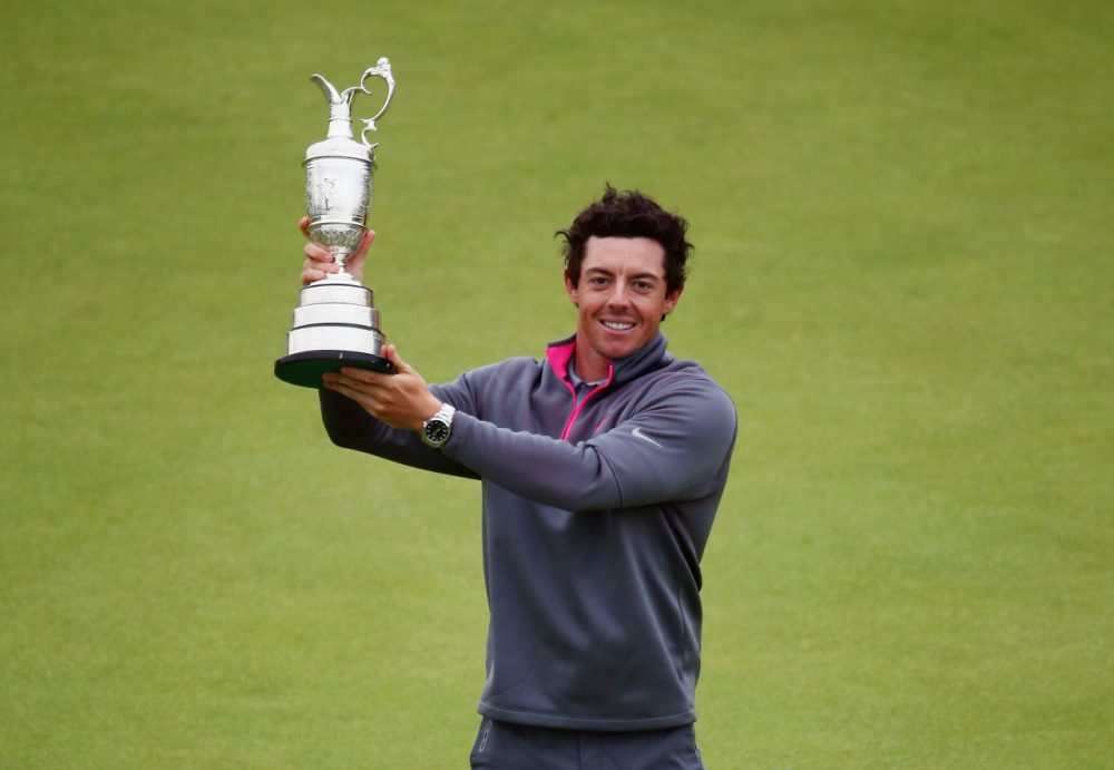 Rory McIlroy edged out Sergio García and Rickie Fowler for the Open Championship title. (Matthew Lewis/Getty Images)