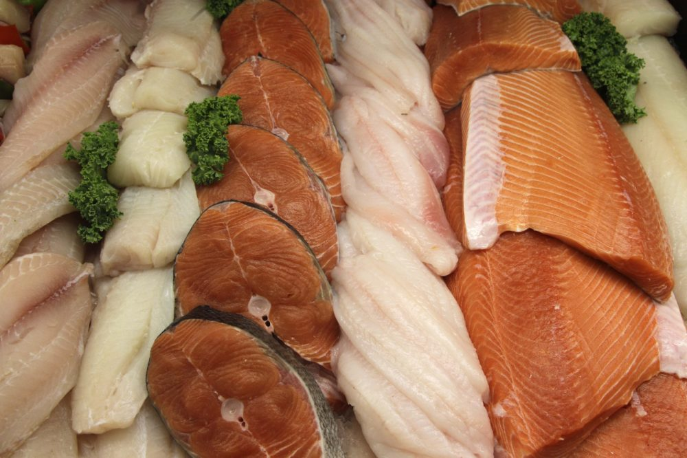 The seafood counter at Whole Foods Market in Hillsboro, Ore. is pictured Sept. 10, 2010. (Rick Bowmer/AP)